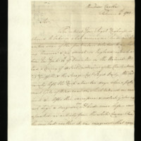 Letter from Henry Majendie to Prince William, written at Windsor Castle
