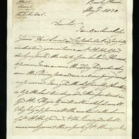 Letter from William, Duke of Clarence to Sir William Knighton, written at Bushy House