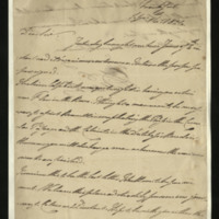 Letter from the Duke of Clarence to J.W. Daniell, written in Frankfurt