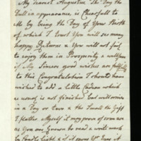 Letter from Queen Charlotte to the Duke of Sussex