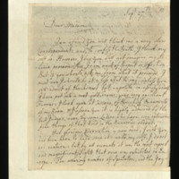 Letter from Robert Dodsley to [Miss Elizabeth Cartwright]