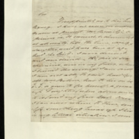 Letter from John Belson to General Jacob de Budé reporting further on the denial of the expected legacy, which has left him completely ruined and his family in a desperate financial situation.