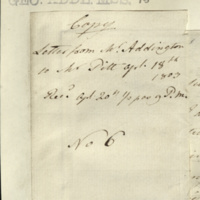 Copy letter from Henry Addington to William Pitt, replying to points made in 0860g and emphasising that while he had no objection to the action Pitt might propose towards himself, as he had no wish for an official position, it was not felt it would be acceptable to change [the members of] the existing Government, as the intention was to strengthen it 'by the union of those who had concurr'd in opinion respecting the leading measures'.