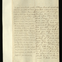 Letter [in French] from the Princess of Wales to Mrs. Clayton [GEO/ADD/28/077], expressing further concern at the continuance of her ill health and requesting that one of her 'domesticks' tell Geminghen how she is, and asking Mrs Clayton to convey a message to Dr Clarke that the Princess allocates 100 guineas a year for his chair hire, to begin at Christmas; with transcription in French and English translation [GEO/ADD/28/027].
