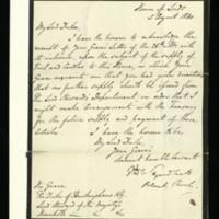 Letter from Thomas Tyrwhitt to the Duke of Buckingham, written at the House of Lords