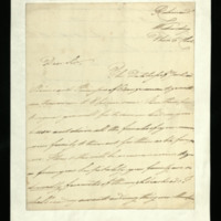 Letter from the Duke of Clarence to J.W. Daniell [?], written at Richmond