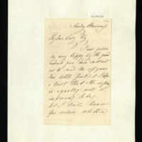 Letter from Queen Adelaide to Lady Ely on family matters