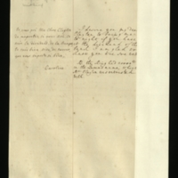 French transcription and English translation of a letter from Queen Caroline to Mrs Clayton, asking her to bring tonight 'the dividend of the bank'.