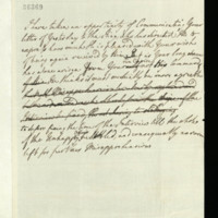 Letter, and draft, from Queen Charlotte to George, Prince of Wales