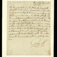Letter from George III to James Wyatt