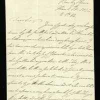 Letter from William, Duke of Clarence, written at Bushy House