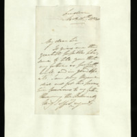 Letter from Captain Adolphus FitzClarence to Sir Richard Puleston, written in London