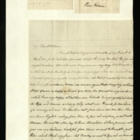 Letter from Princess Augusta to Prince William, written at Queen's House, London, on family matters