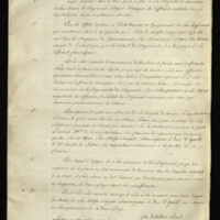 Résumé  of demands for reimbursement  made by Col. Comte Joseph Delatour in connection with the regiment ('le Régiment Royal-Etranger') levied by him for the service of the King, with an explanation of the various articles under which it was levied  (enclosure).