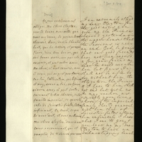 Letter [in French] from the Princess of Wales to Mrs. Clayton [GEO/ADD/28/088], thanking her for good news, expressing relief that the sessions in the Upper House are coming to an end and that their friends had not been 'expos'd', commenting on their obligations to and appreciation of Mr Clayton, remarking on the size of 'our majority' and on the political manoeuvrings, and on 'the plebeian' [Sir Richard Steele?]; with transcription in French and English translation [GEO/ADD/28/056].