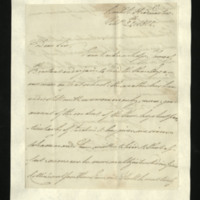 Letter from William, Duke of Clarence to J.W. Daniell, written at the British Headquarters