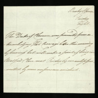 Letter from William, Duke of Clarence to Mr Cosway, written at Bushy House