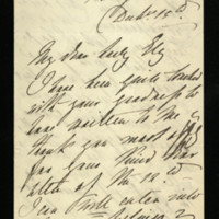 Letter from Queen Adelaide to Lady Ely, written at Witley Canal