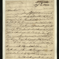 Letter from the Duke of Clarence to J.W. Daniell, written in ?