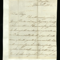 Letter from William, Duke of Clarence to John Bourke, 4th Earl of Mayo, written at Brighton