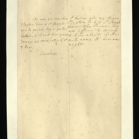 Letter [in French] from the Princess of Wales to Mrs. Clayton [GEO/ADD/28/079], asking her to inform 'Sr. Joseph' that the Prince [presumably of Wales] wishes to speak to him and proposing tomorrow night for their meeting; with transcription in French and English translation [GEO/ADD/28/031].