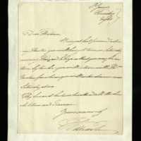 Letter from the Duke of Clarence to Miss Sketchley [?], written at St James's