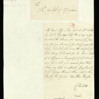 Letter from Queen Charlotte to Lady Effingham