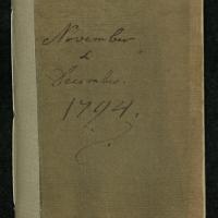 """Diary for """"November & December 1794"""""""