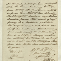 Letter from Princess Elizabeth to [Mrs Sophia Feilding]