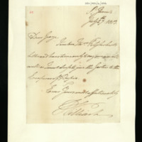Letter from William, Duke of Clarence to the Prince Regent, written at St James's