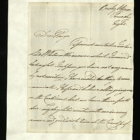 Letter from William, Duke of Clarence to John Bourke, 4th Earl of Mayo, written at Bushy House