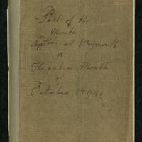 """Diary for """"Part of the Month Septbr at Weymouth & The entire Month of October 1794"""""""