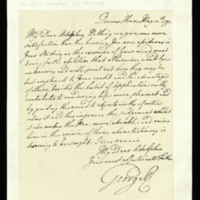 Letter from George III to Adolphus