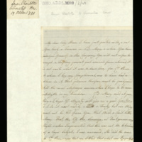 Letter from Queen Charlotte to Lady Howe