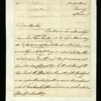 Letter from the Duke of Clarence to Samuel Hawker, written at Bushy House