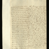 Letter [in French] from the Princess of Wales to Mrs. Clayton [GEO/ADD/28/095], conveying a message from the Prince [of Wales, presumably] reporting information that a Bill will shortly be brought in to Parliament to give the King power to name a Regency and that there is another unfinished one regarding money for the Prince's children, and asking Mrs Clayton to seek the advice of Sir Joseph [Jekyll] and report to the Princess any information; with transcription in French and English translation [GEO/ADD/28/047].
