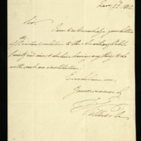 Letter from William, Duke of Clarence written at Sudhorn, regarding the Auxiliary Bible Society