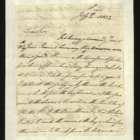 Letter from the Duke of Clarence to J.W. Daniell, written in Ems