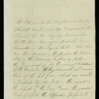 Letter from William Pitt to Lady Charlotte Finch