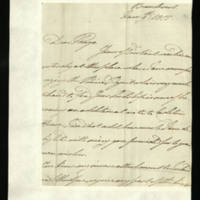 Letter from William, Duke of Clarence to John Bourke, 4th Earl of Mayo, written at Beaudesert