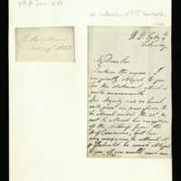 Letter from the Lord Steward to Thomas Marrable