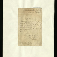 Letter from Charles Goodwin to William Gaspey, written at Marlborough House, Pall Mall