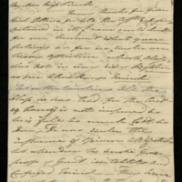 Letter from Princess Mary to Miss Finch