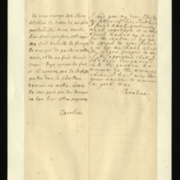 Letter [in French] from the Princess of Wales to Mrs. Clayton [GEO/ADD/28/127], forwarding a letter from Lady Portland, reporting that Princess Amelia is 'much oppress'd' and asking Mrs Clayton to seek the advice of 'your freind' [sic] [presumably Dr Freind] as to whether Princess Amelia should be carried into the garden tomorrow; with transcription in French and English translation [GEO/ADD/28/011].