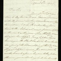 Letter from William, Duke of Clarence to Capt. Duncombe Pleydell Bouverie, written at Bushy House