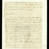 Letter from George III to Lord Grenville