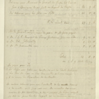 Statement of expenditure by Georg von Löw for General Jacob de Budé and vice versa, together with list of glassware, blankets and best Jamaica rum required by the Duke of York (enclosure to 516).
