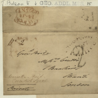 Letter from John Belson to General Jacob de Budé, further outlining his financial difficulties, expressing regret at creating a bad impression while emphasising that it was through no fault of his own, and asking that the General might mention him to the 'Secretary at War' so that he might gain a post in a Barrack.