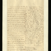 Letter [in French] from the Princess of Wales to Mrs. Clayton [GEO/ADD/28/134] reporting that Princess Amelia has a fever, for which she was 'blouded' and for which the Princess wished a 'blister' to be applied, and asking her to thank 'our freind' [Dr Freind] for staying to provide advice; with transcription in French and English translation [GEO/ADD/28/002].