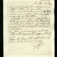 Letter from George III, written at the Queen's House, on various matters